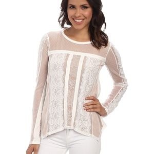 Addyson Lace-Blocked Long-Sleeve